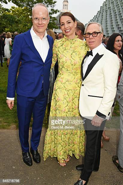 HansUlrich Obrist Yana Peel and Tommy Hilfiger attend The Serpentine Summer Party cohosted by Tommy Hilfiger on July 6 2016 in London England