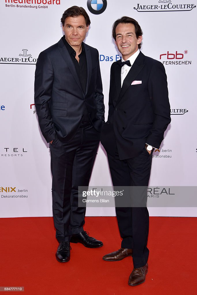 Hans-Werner Meyer (R) attends the Lola - German Film Award (Deutscher Filmpreis) on May 27, 2016 in Berlin, Germany.