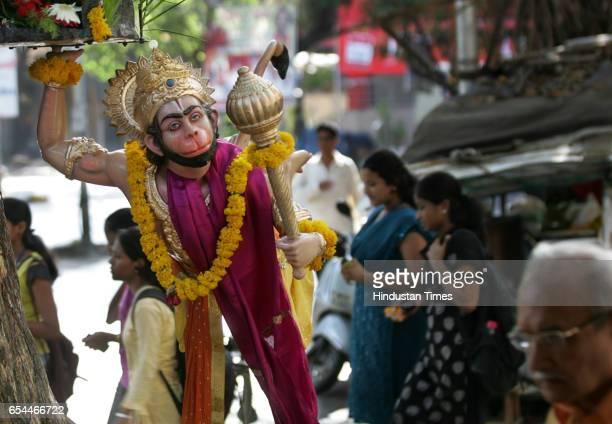 Hanuman Jayanti The idol of Lord Hanuman was decorated outside a Hanuman Temple at Agar Bazar as part Hanuman Jayanti