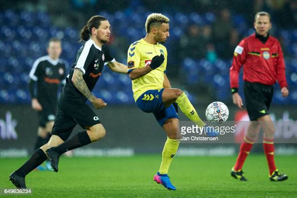 Hany Mukhtar of Brondby IF in action during the Danish Cup DBU Pokalen match between BK Marienlyst and Brondby IF at Brondby Stadion on March 08 2017...