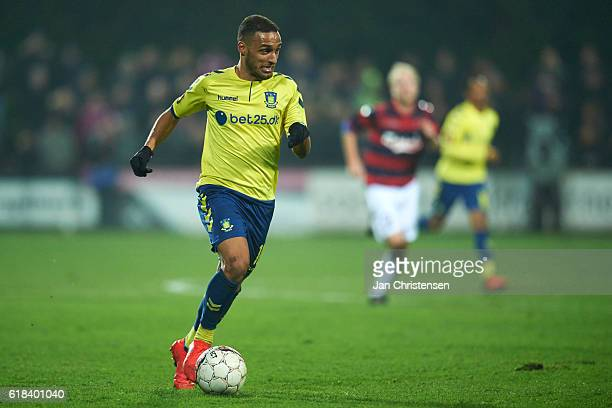 Hany Mukhtar of Brondby IF in action during the DBU Pokalen 3 round match between BK Frem and Brondby IF at Valby Idratspark on October 26 2016 in...