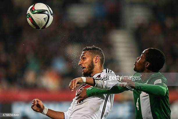Hany Mukhtar of Germany battles with Akinjide Idowu of Nigeria during the FIFA U20 World Cup New Zealand 2015 Round of 16 match between Germany and...