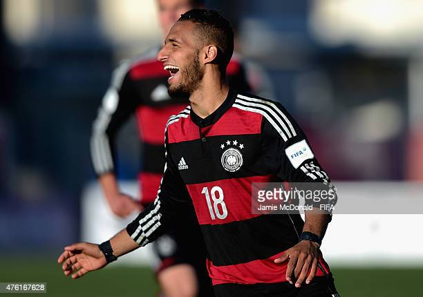 Hany Mukhtar of Germany celebrates his goal during the FIFA U20 World Cup New Zealand 2015 Group F match between Honduras and Germany at the...