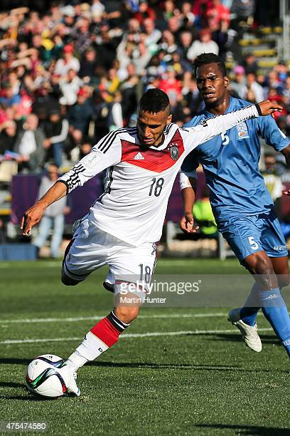 Hany Mukhtar of Germany controls the ball during the Group E Group E FIFA U20 World Cup New Zealand 2015 match between Germany and Fiji at AMI...