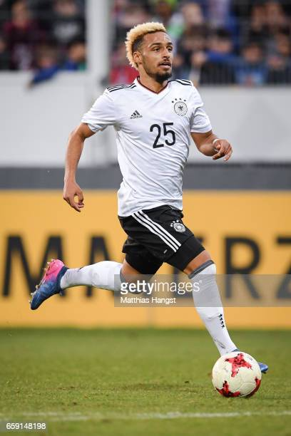 Hany Mukhtar of Germany controls the ball during the U21 International Friendly match between Germany U21 and Portugal U21 at GaziStadion auf der...