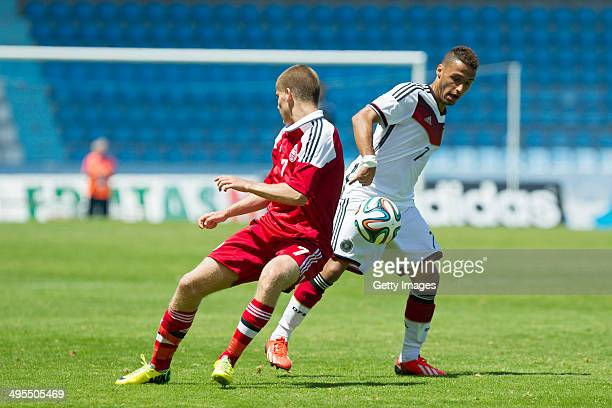 Hany Mukhtar of Germany during the UEFA Under19 Elite Round match between U19 Germany and U19 at Estadio Balaidos on June 2 2014 in Vigo Spain