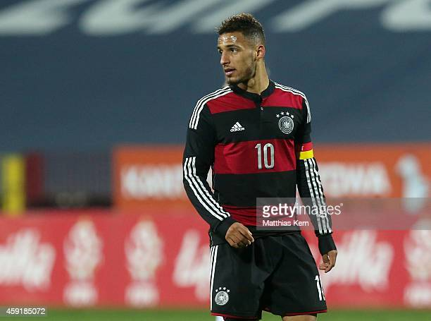 Hany Mukhtar of Germany looks on during the U20 international friendly match between Germany and Poland at Florian Krygier Stadion on November 18...