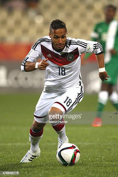 Hany Mukhtar of Germany looks to pass during the FIFA U20 World Cup New Zealand 2015 Round of 16 match between Germany and Nigeria at Christchurch...