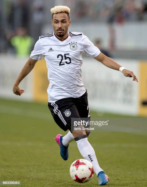 Hany Mukhtar of Germany runs with the ball during the International Friendly match between Germany U21 and Portugal U21 at GaziStadion on March 28...