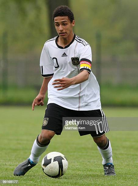 Hany Mukhtar of Germany runs with the ball during the U15 international friendly match between Poland and Germany at Municipal stadium on May 11 2010...