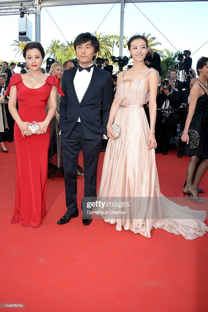 Hao Lei, Qin Hao and Qi Xi attend the Opening Ceremony and 'Moonrise Kingdom' Premiere during the 65th Annual Cannes Film Festival at the Palais des Festivals on May 16, 2012 in Cannes, France.