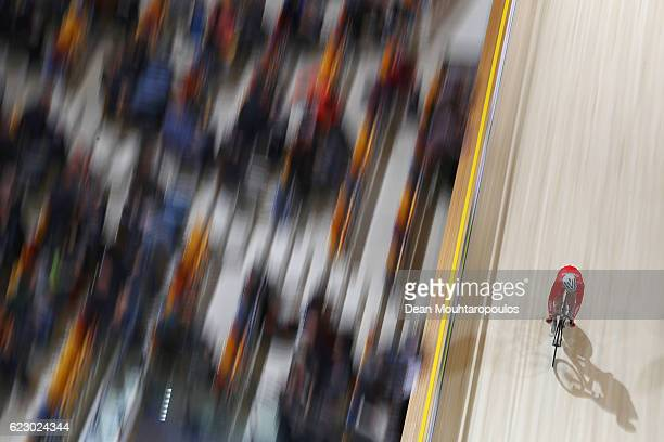 Hao Liu of China competes in the Men's Omnium Points Race 44 during the Tissot UCI Track Cycling World Cup 20162017 held at the sport centre...