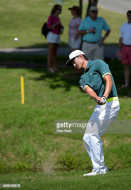 Hao Tong Li of China hits a putt on the third hole during the final round of the Webcom Tour Chitimacha Louisiana Open presented by NACHER at Le...