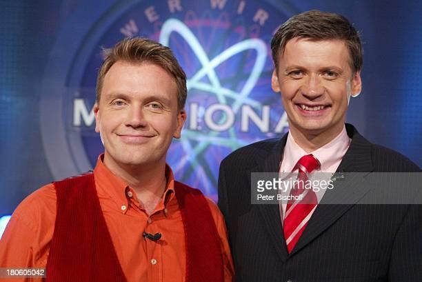 Hape Kerkeling Günther Jauch RTLShow 'Wer wird Millionär'ProminentenSpecial Gewinner PNr488/2002 JH