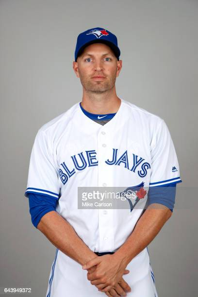 A Happ of the Toronto Blue Jays poses during Photo Day on Tuesday February 21 2017 at Florida Auto Exchange Stadium in Dunedin Florida