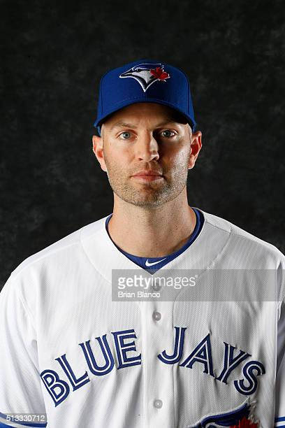 A Happ of the Toronto Blue Jays poses for a photo during the Blue Jays' photo day on February 27 2016 in Dunedin Florida