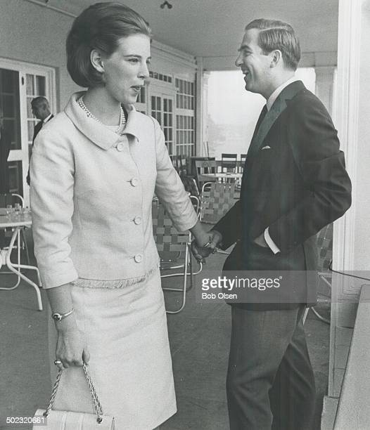 Happier days in Toronto for King Constantine of Greece and 21yearold Queen AnneMarie when they shared a joke at a Royal Canadian Yacht Club luncheon...