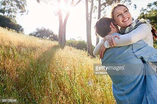 Glücklichste in seine Arme