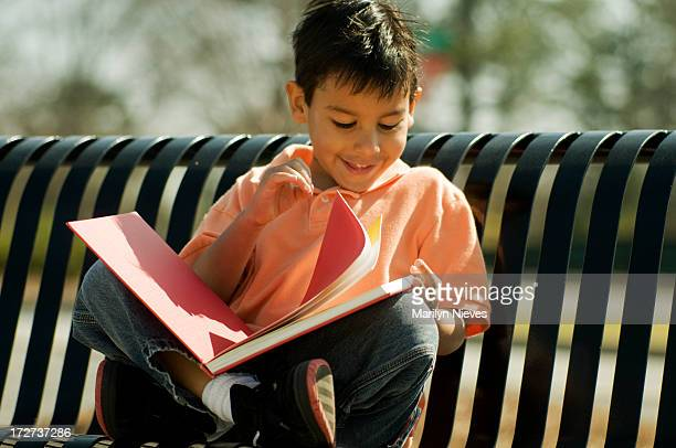 happily reading