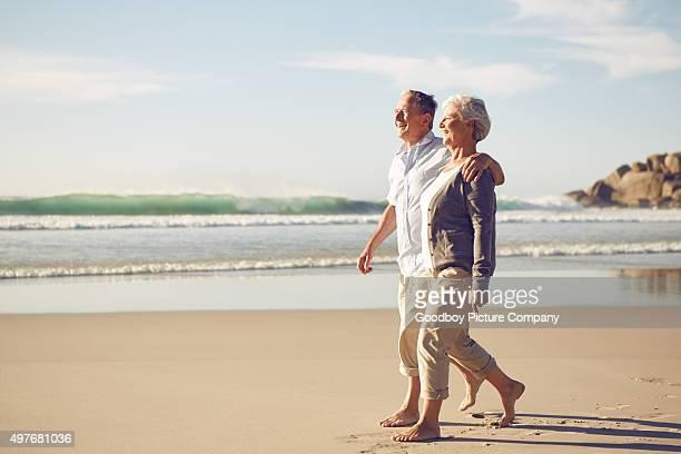 Gerne zu Fuß entlang des Strandes