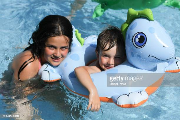 Happiness at swimming pool