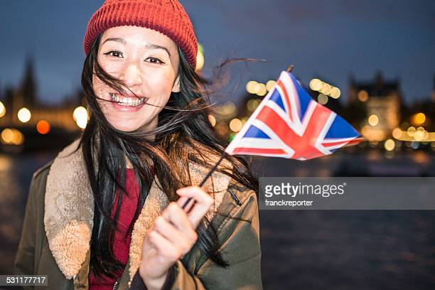 happiness chinese tourist in london