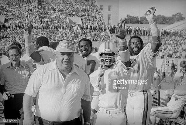 Happiness is 50 in the National Football League and the only undefeated team as of play 9/30/79 Buccaneers with smiles just after beating the Chicago...