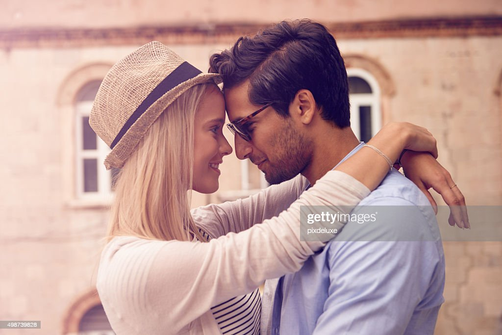 Happiness is only real when it's shared : Stock Photo