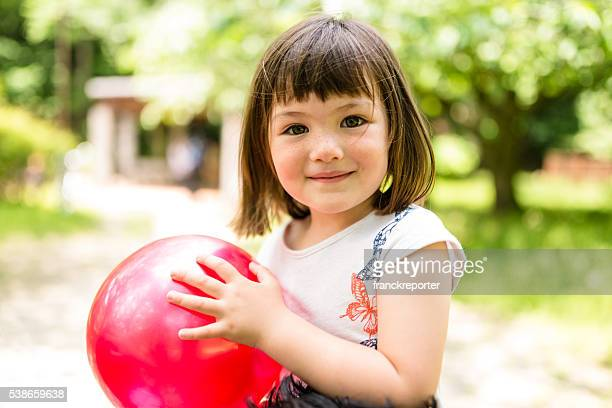 happiness japanese mixed race little girl portrait