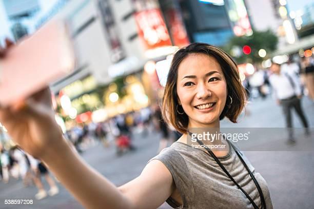 幸福電話中日本の女性