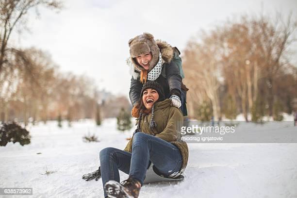 Happiness on snow