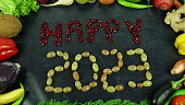Organic fruits and vegetables for all seasons and for healthy life on the hand