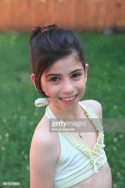 Happy adolescent girl