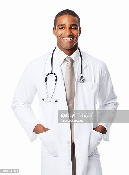 Happy African American Medical Professional - Isolated