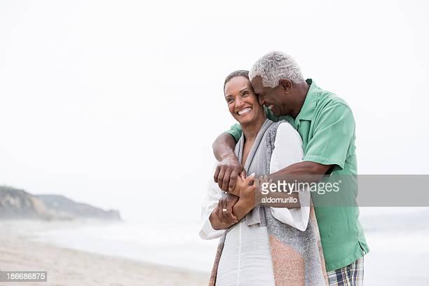 Happy and loving senior couple