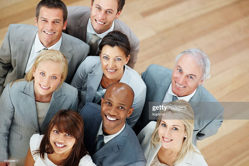 Happy and successful business team : Stock Photo