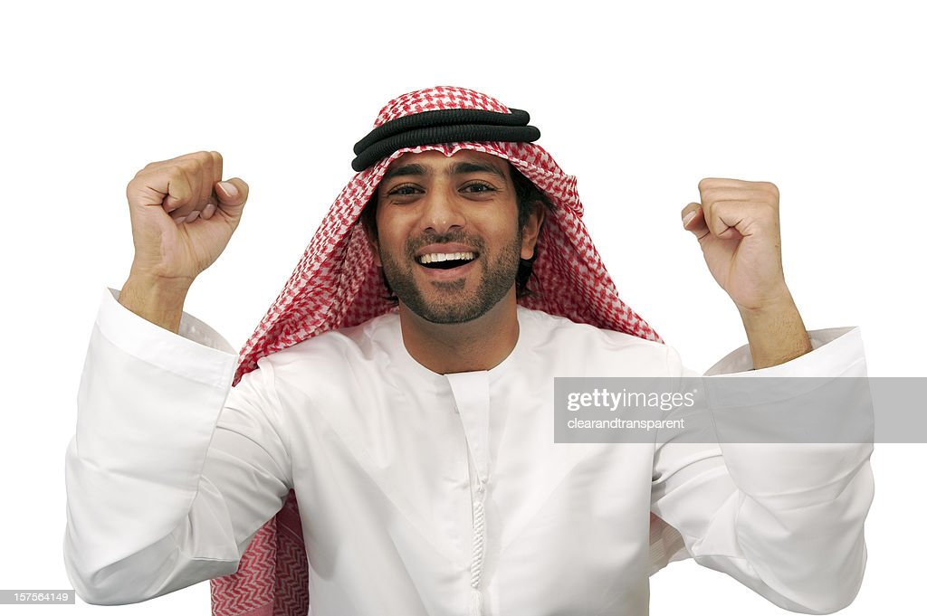 Happy Arab business man