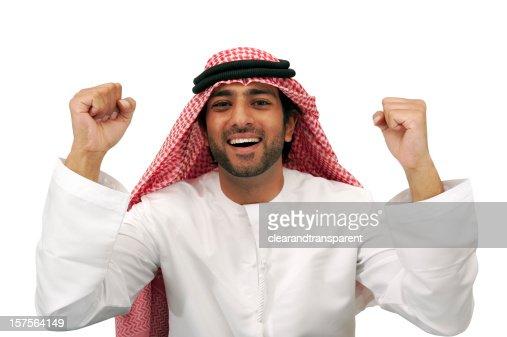 Happy Arab business man