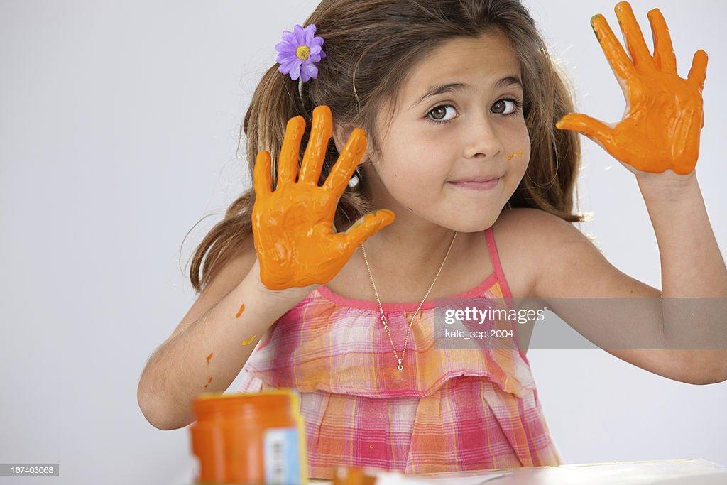 Happy artist : Stock Photo