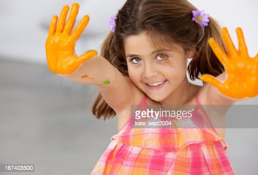 Happy artist : Stock Photo