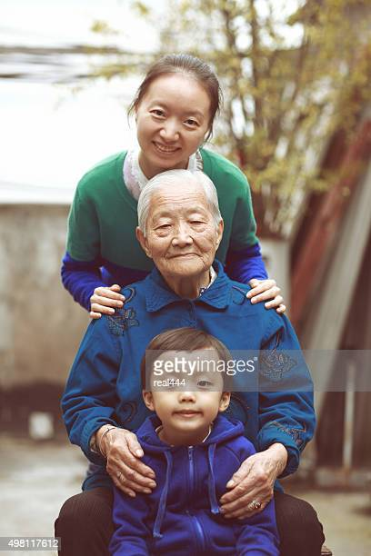 なアジアの家族