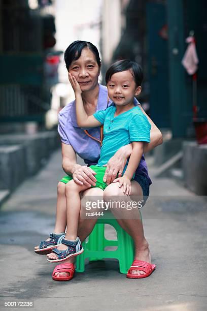 Famille asiatique heureux