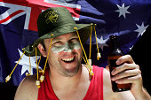 Happy Aussie with a Beer