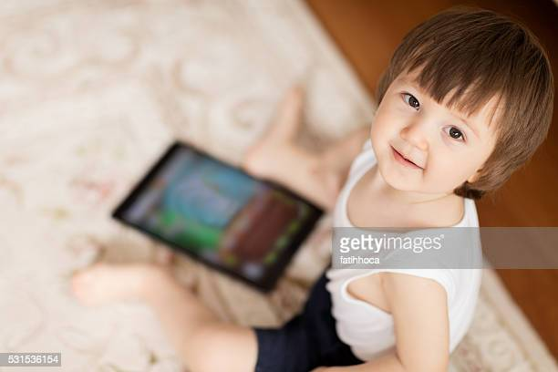 Happy Baby and Tablet