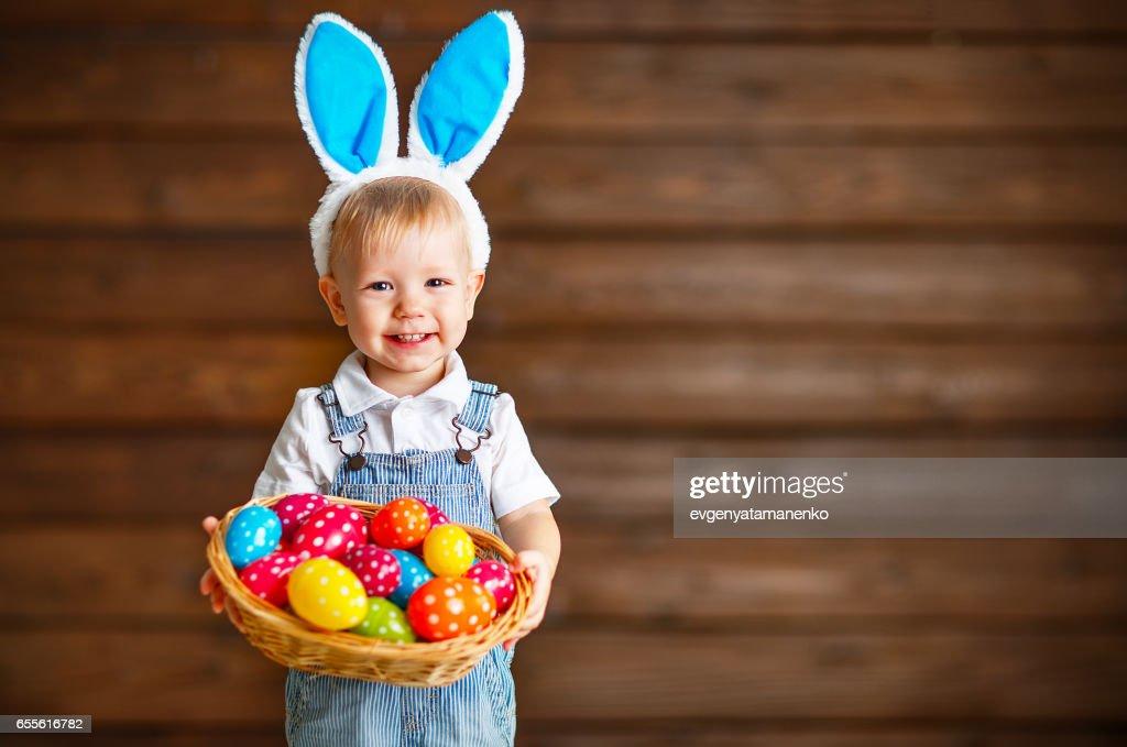 easter bunny boy Happy