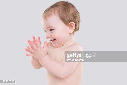 Happy Baby Stock Photo
