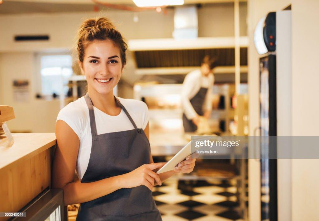 Happy baker : Stock Photo