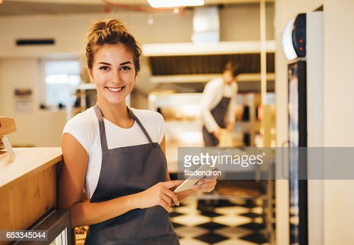 Happy baker : Stock Photo