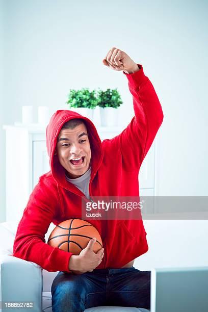 Happy Basketball Fan