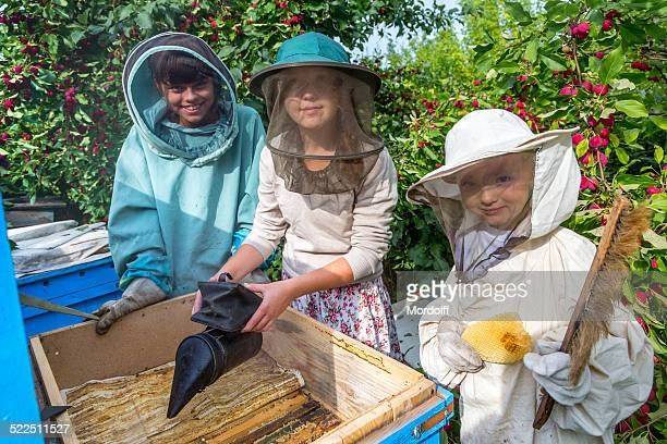 Happy beekeepers